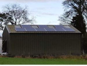 5kw Solar PV installation on a shed in Longford