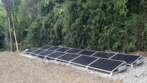 4.5kwp ground mounted system install
